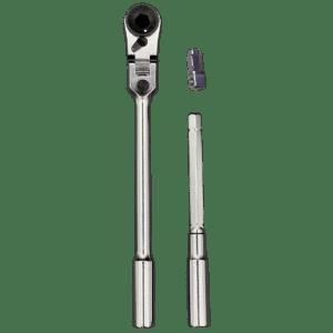 3 piece 1/4″ mini flex bit/socket ratchet and t-handle